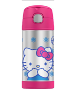 Thermos FUNtainer Insulated Bottle Hello Kitty Pink