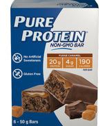 Pure Protein Fudge Caramel Non-GMO bar