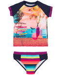 nano Two Piece Rashguard Surf Swimsuit