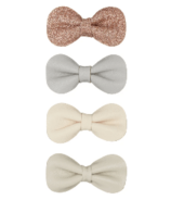 Mimi & Lula Gracie Bow Clips Neutral
