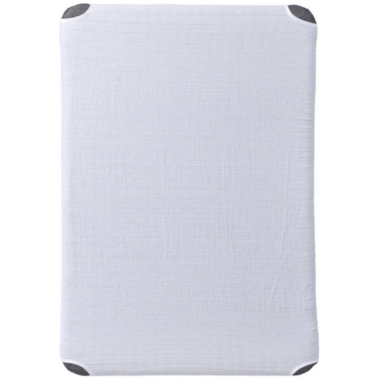 HALO Innovations DreamNest Muslin Fitted Sheet White
