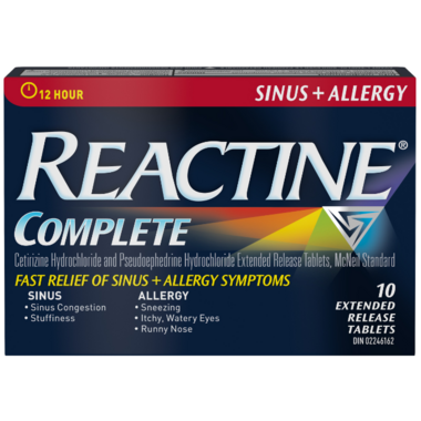 Reactine Complete Sinus + Allergy Extended Release