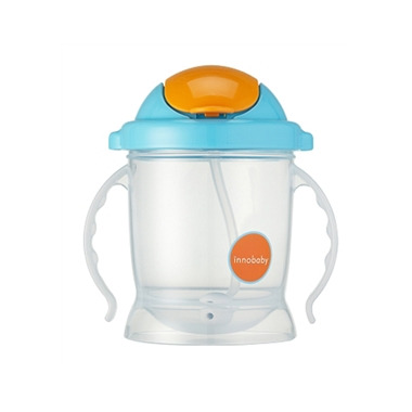 Innobaby Sippin\' Smart EZ Flow Straw Sippy Blue