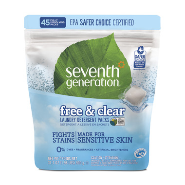 Seventh Generation Natural Laundry Detergent Packs Free & Clear