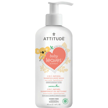 ATTITUDE Baby Leaves 2-in-1 Shampoo & Body Wash Pear Nectar