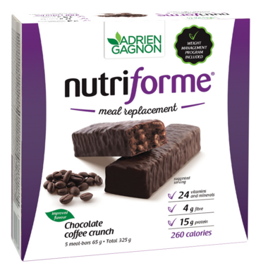 Adrien Gagnon Nutriforme Meal Replacement Bars Chocolate Coffee Crunch