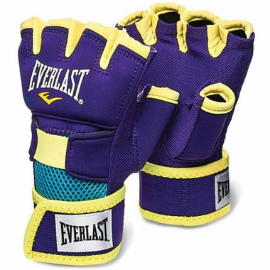 Everlast Evergel Hand Wraps Purple & Yellow Medium