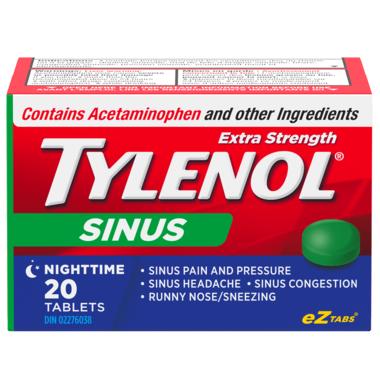 Tylenol Sinus Extra Strength Nighttime eZ Tabs