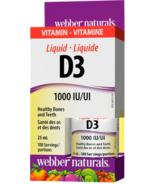 Webber Naturals Vitamin D3 Liquid, 1000 IU