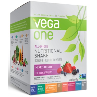 Vega One All-In-One Berry Nutritional Shake Singles Box