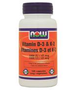 NOW Foods Vitamin D-3 & K-2