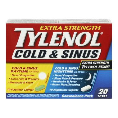 Tylenol Cold & Sinus Extra Strength Daytime + Nighttime Caplets
