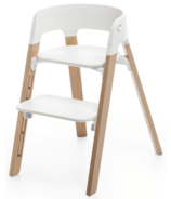 Stokke Steps Chair Natural Legs & White Seat