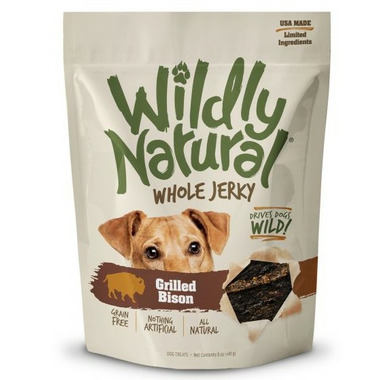 Wildly Natural Whole Jerky Treats for Dogs Grilled Bison