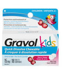 Gravol Kids Quick Dissolve Chewable Tablets