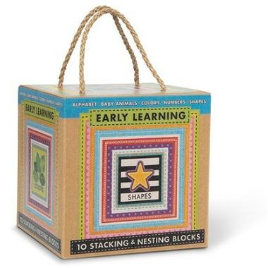 Melissa & Doug Natural Play Learning Stacking & Nesting Blocks