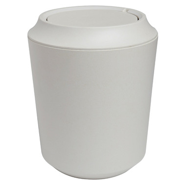 Umbra Fiboo Waste Can With Lid Linen