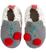 Robeez Soft Soles Cherry Black & White