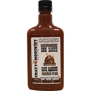 Crazy Mooskies Smok\'n Garlic BBQ Sauce