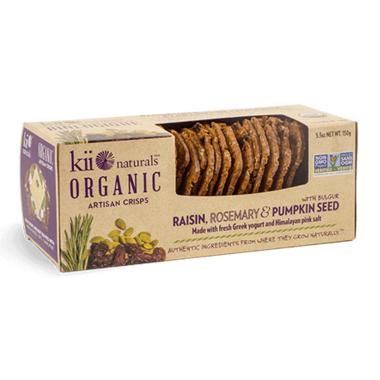 Kii Naturals Artisan Crisps Organic Raisin, Rosemary and Pumpkin Seed