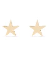 Bluboho Everyday Little Stella Star Earrings 14k Yellow Gold