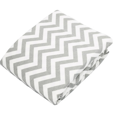 Kushies Flannel Fitted Crib Sheet Chevron Grey