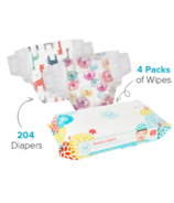 The Honest Company Rose Blossom & Giraffes Diapers & Wipes Bundle Size 3