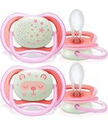 Philips AVENT Ultra Air Nighttime Pacifier 6-18 Months Pink