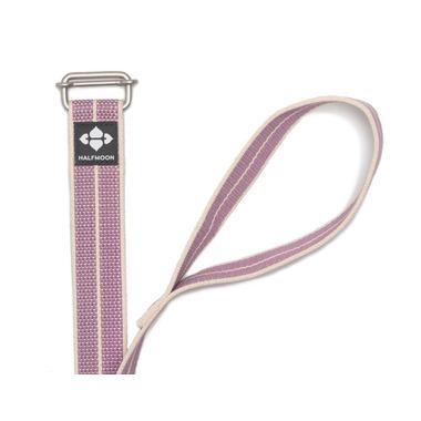Halfmoon Extra Long Loop Yoga Strap Natural Lilac