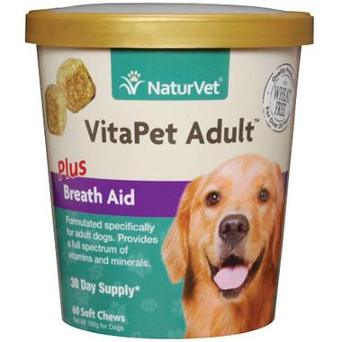 Naturvet VitaPet Adult Plus Breath Aid Soft Chews