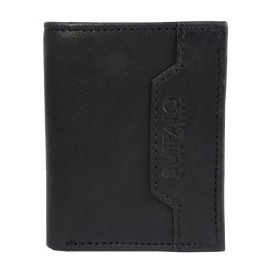 Buffalo David Bitton Steve Bi Fold Card Case With Coin in Black