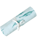 Perlimpinpin Bamboo Muslin Swaddle Narwals
