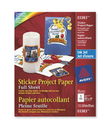 Avery Sticker Project Paper for Inkjet Printers