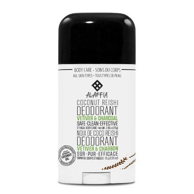 Alaffia Coconut Reishi Deodorant Vetiver & Charcoal