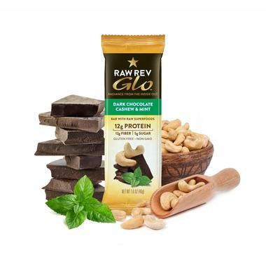 RAW REVOLUTION GLO-Dark Chocolate Cashew & Mint