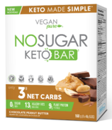 No Sugar Company Keto Bar Chocolate Peanut Butter Pack