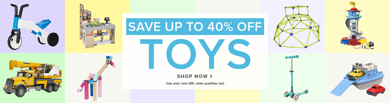 Save up to 40% off ALL Toys