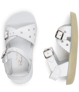 Salt Water Sandals Sweetheart Toddler Sandals White