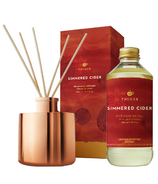 Thymes Reed Diffuser Simmered Cider & Refill Bundle