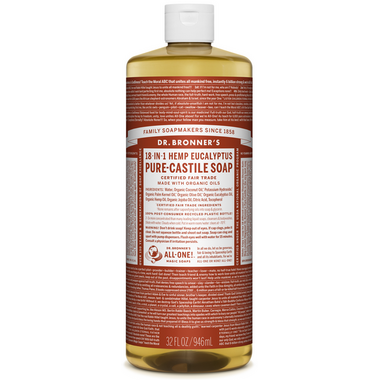 Dr. Bronner\'s Organic Pure Castile Liquid Soap Eucalyptus 32 Oz