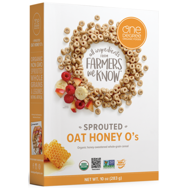 One Degree Oat Honey O\'s Cereal