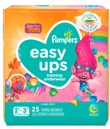 Pampers Trolls Easy Ups Training Underwear Girls