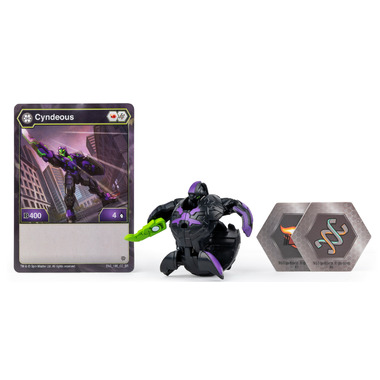 Bakugan Darkus Cyndeous Collectible Action Figure and Trading Card