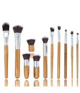 Zoe Ayla Professional 11 Piece Bamboo Eco Make-Up Brush Set With Case