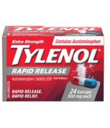 Tylenol Extra Strength Pain Relief Rapid Release Gelcaps Small Bottle