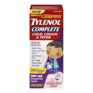 Junior Strength Tylenol Complete Cold, Cough & Fever Liquid