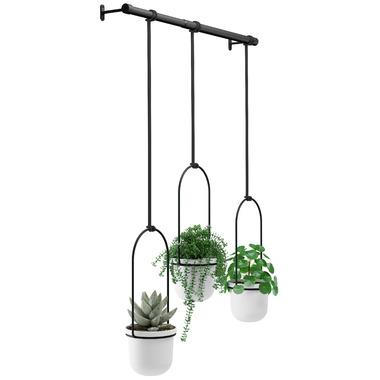Umbra Triflora Hanging Planter Black