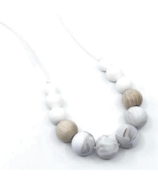 Little Cheeks Duo Necklace Warm Marble