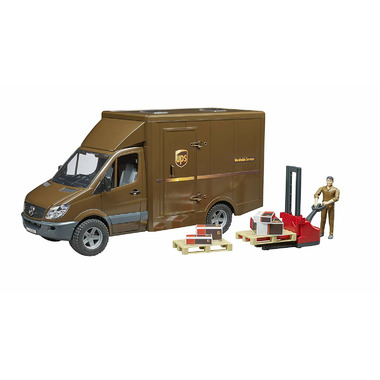 Bruder Toys MB Sprinter UPS with Driver and Accessories