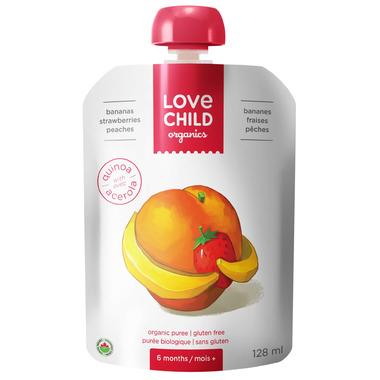 Love Child Organics Pouch Bananas, Strawberries & Peaches